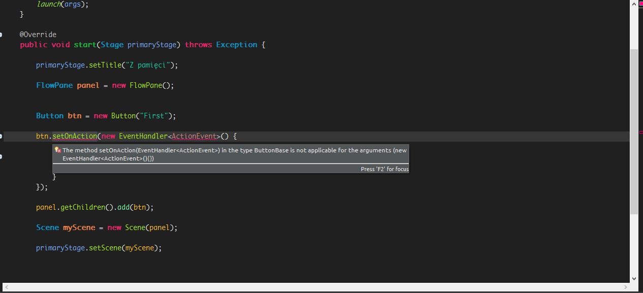 JavaFX Eclipse EventHandler szaleje:: 4programmers net